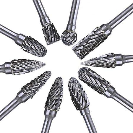 Tungsten Carbide Metal Cutting Carving Grinding Cutter Burr Set For Dremel Tool~