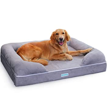 PLS Birdsong Rüya - Large Dog Bed with Triple-Layer Orthopedic Foam, Memory Foam Dog Bed for Large Dogs