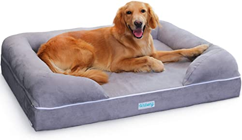 PLS Birdsong R ya – Large Dog Bed with Triple-Layer Orthopedic Foam, Memory Foam Dog Bed for Large Dogs
