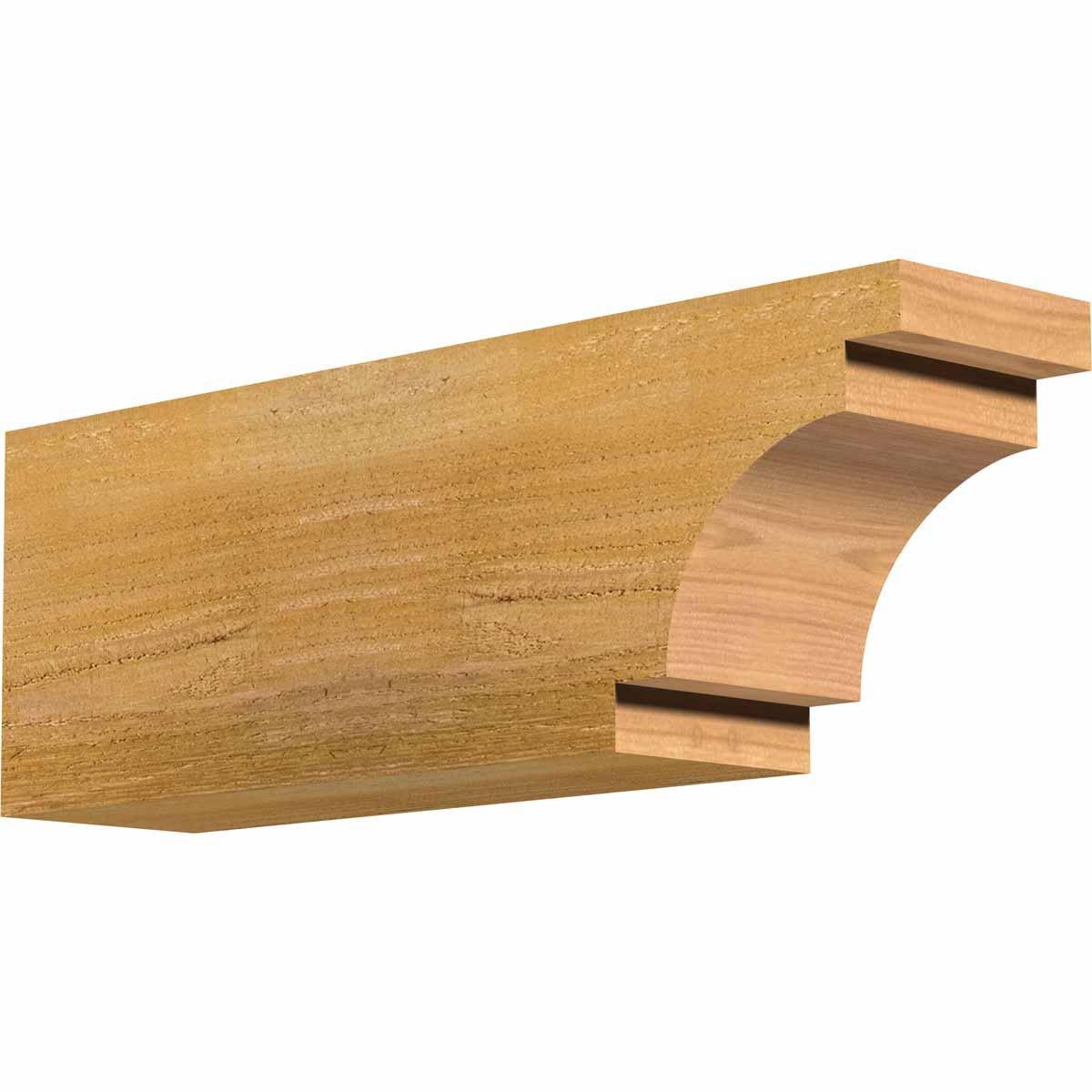 4 Width by 6 Height by 18 Length Western Red Cedar Ekena Millwork RFT04X06X18MED00RWR Mediterranean Rough Sawn Rafter Tail