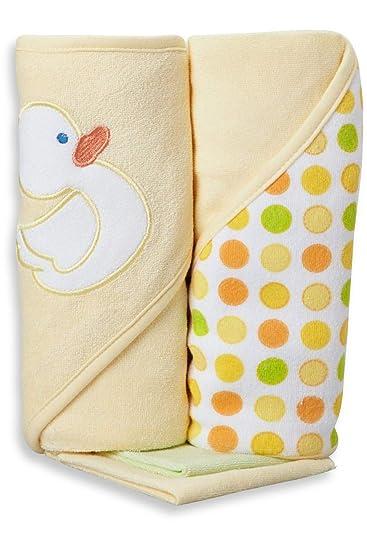 Amazon.com: Spasilk - Toalla de baño con capucha, color azul ...