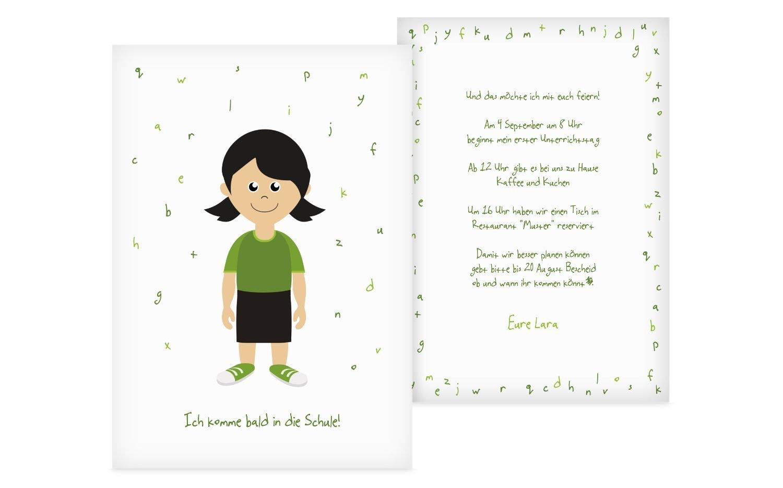 Einladung Einschulung Mädchen, 60 Karten, DunkelPastellGrün B073GZFGRV | Angenehmes Gefühl  | Toy Story  | Einfach zu bedienen