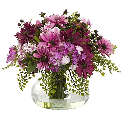 Nearly Natural 1353-PK Mixed Daisy Arrangement, Large