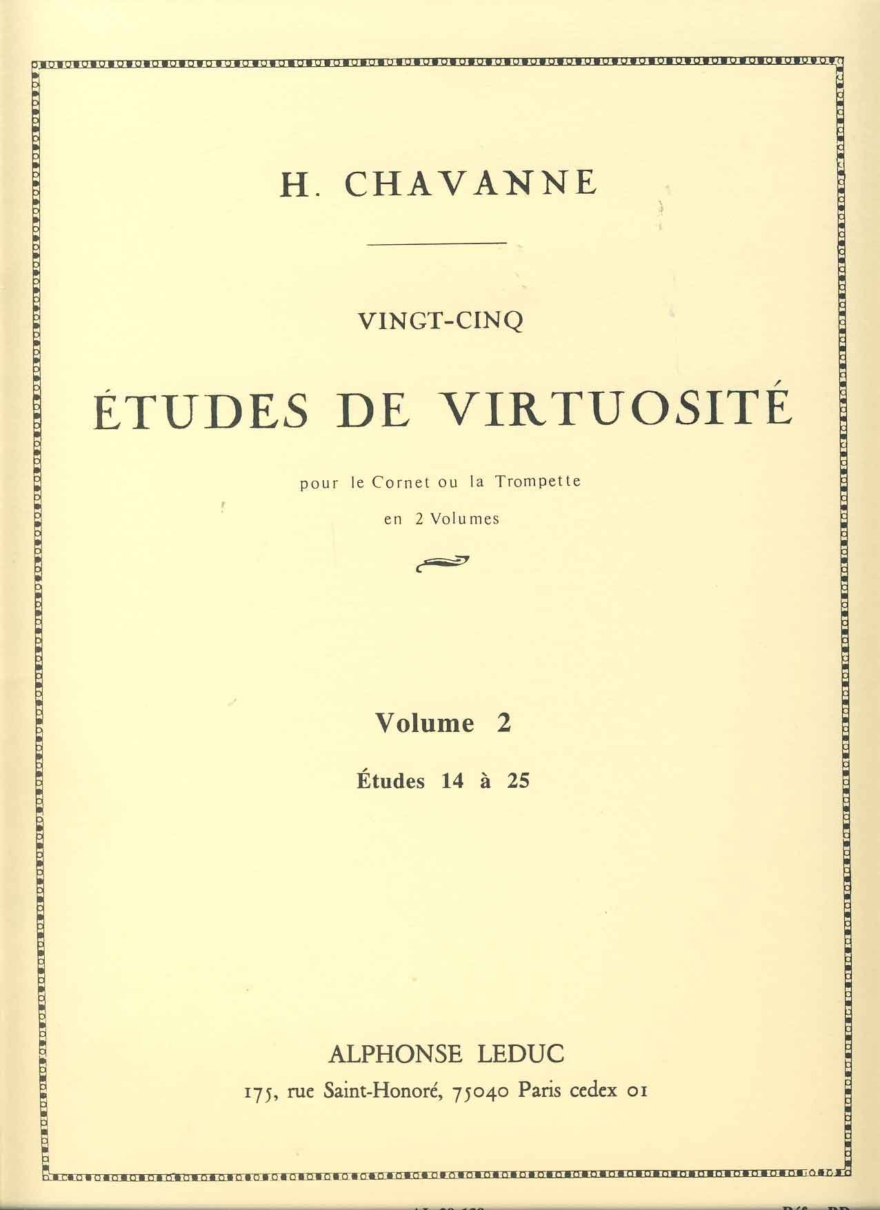 Download CHAVANNE H. - Estudios de Virtuosidad (25) Vol.2: nº 14 a 25 para Trompeta pdf epub