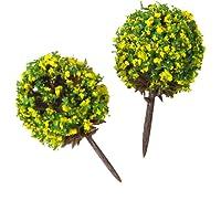 50 Piezas Modelo De Árboles Con Flores Modelo