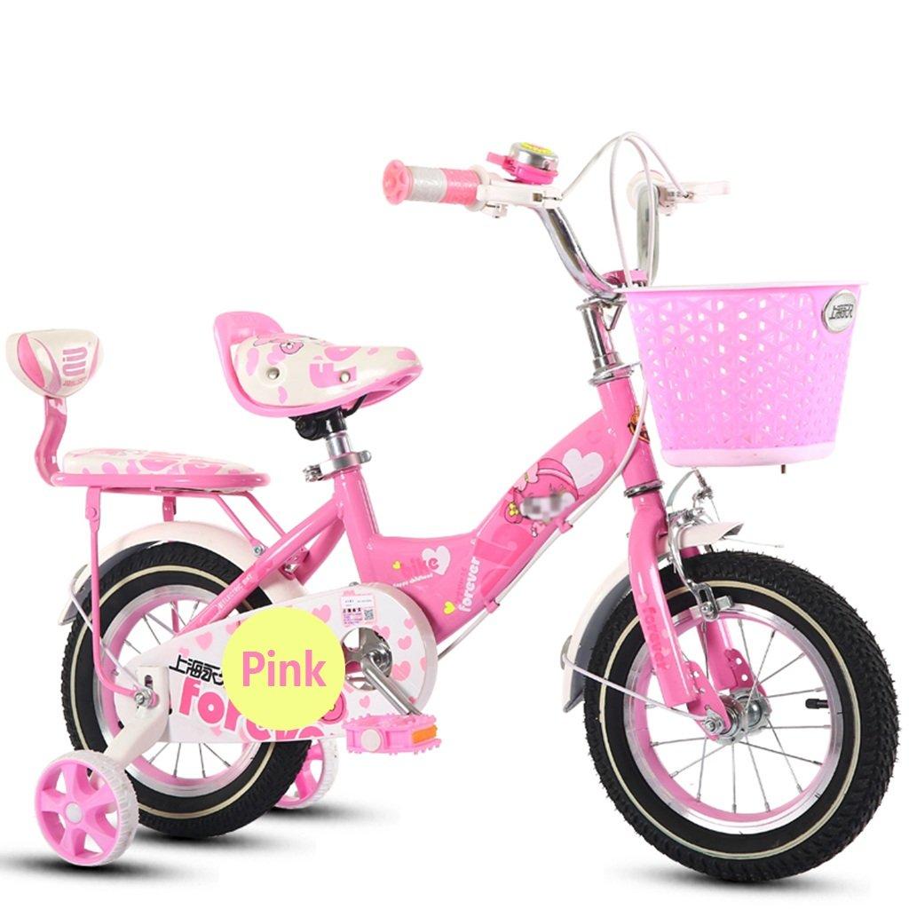 CSQ 屋外の自転車、少年少女のペダルの自転車の子供時代の個々の自転車2~9歳の赤ちゃん補助車の自転車と88-121CM 子供用自転車 (色 : ピンク ぴんく, サイズ さいず : 115CM) B07DXGSNB3ピンク ぴんく 115CM