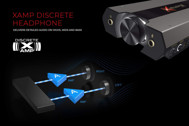 Creative dac de jeu sound blasterx g6 7.1 hd et carte son usb