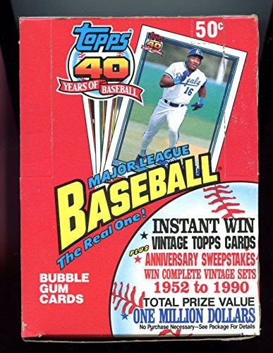 [1991 Topps baseball Wax Pack Box Chipper Jones Rookie Card RC Set] (1991 Donruss Baseball)