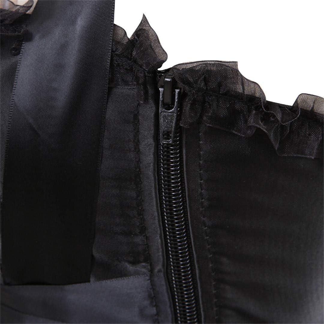 Womens Gothic Shoulder Straps Tank Overbust Corset Halter Bustiers Top Plus Size Lingerie