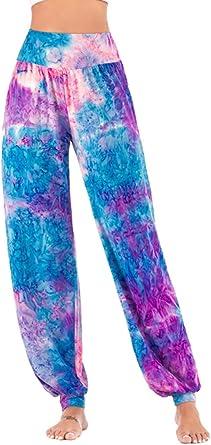 Yoga Lounge Pants Women/'s Sweats Blue Tie-Dye