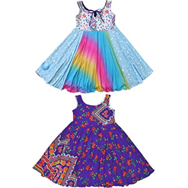 0b6aee900 Amazon.com  TwirlyGirl Cute Dress for Kids Unique Reversible Rainbow ...