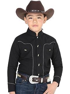 El General Camisa Vaquera Charra M/Larga de Boys ID 40354 CW15G Negro