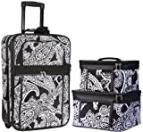 3-Piece Carry On Luggage Set with Wheels for Travels (Paisley)