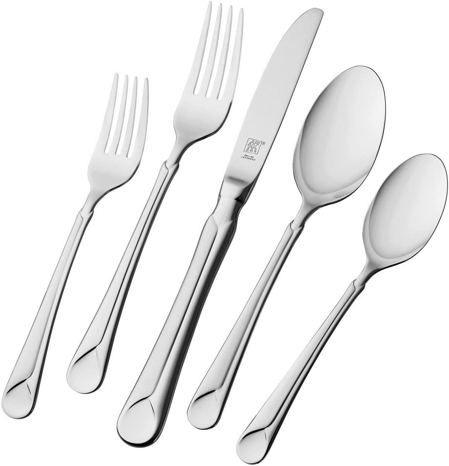Henckels Zwilling J A Provence 45 Pc 18 10 Stainless Steel Fl Flatware Set Piece Silver Silverware Flatware Sets