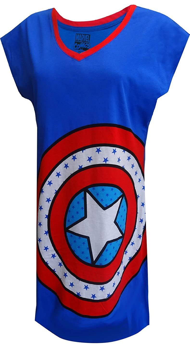 Marvel Comics Captain America Logo Nightshirt for women (One Size) MV151JDOS