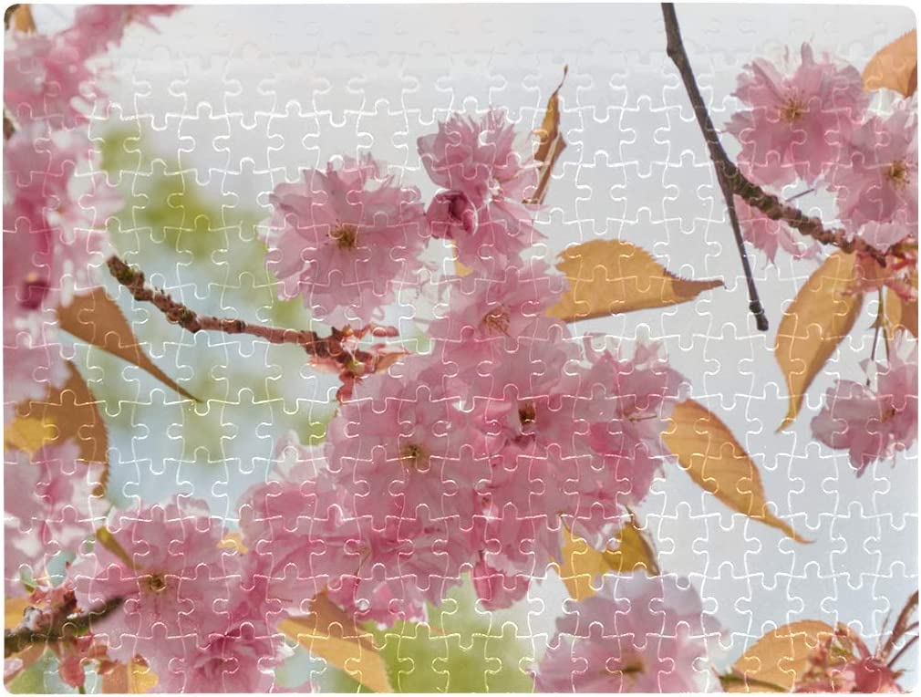 A3 Size 252 Pieces Pretty Jigsaw Puzzles Blooming Glorious Flowers Garden Jigsaw Puzzles for Teens 15.63 X 11.81 Inch Cardboard Puzzles for Adult Children