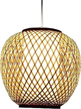 Imagen deAZCX Creativa lámpara de bambú Hecha a Mano, Restaurante del sudeste asiático, salón de té Pastoral, lámparas de Arte de bambú, Moho y atenuación Inteligente a Prueba de Humedad,70~80cm