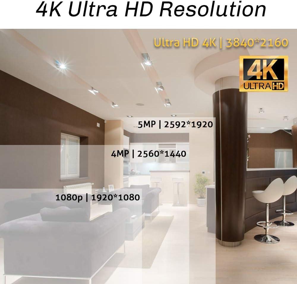 3840x2160 2.8-12mm 4X Optical Zoom Motorized AutoFocus Outdoor Waterproof Onvif H.265 8MP Dome PoE IP Camera GW Security 8.0MP 4K