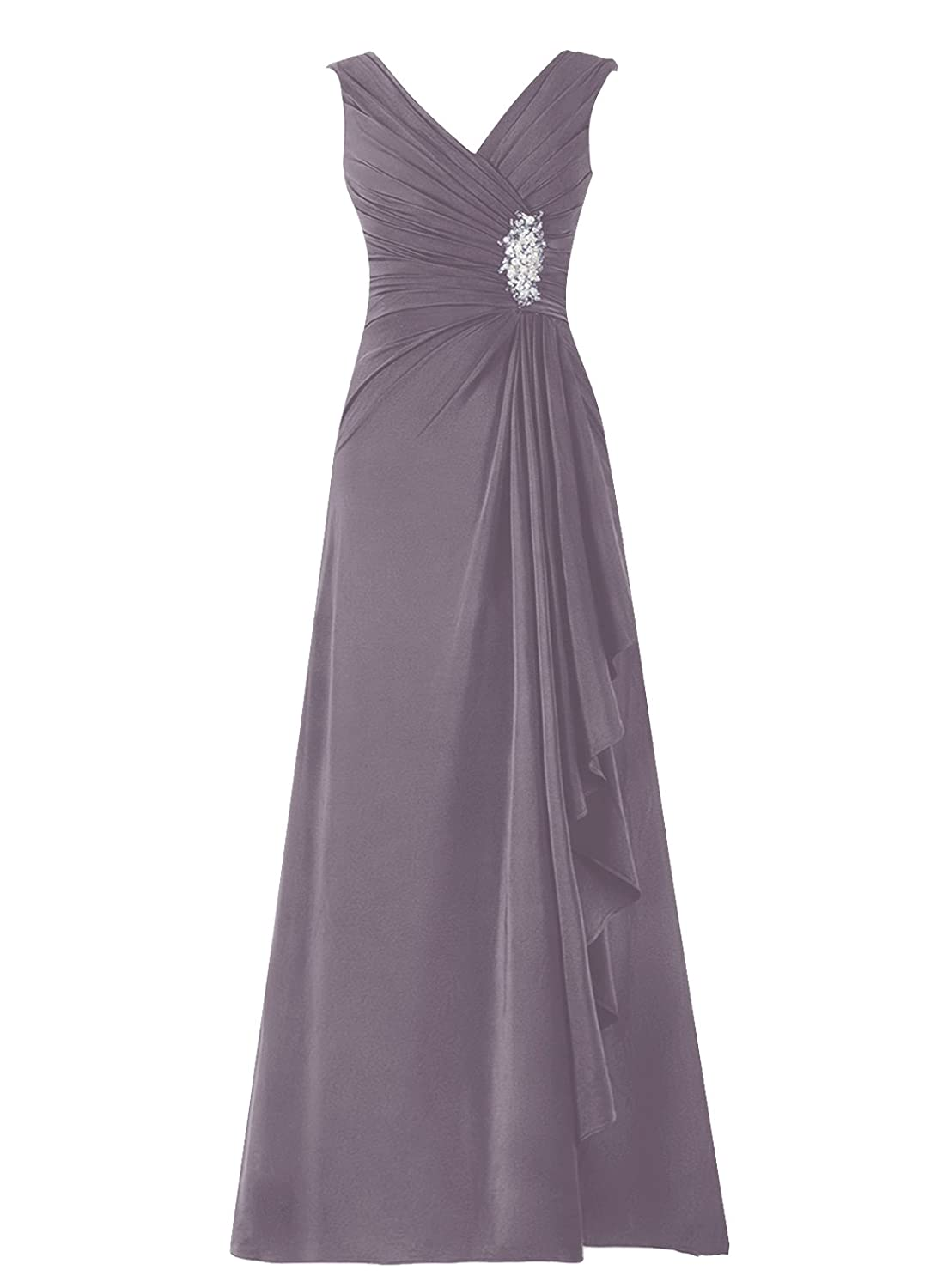 Dresstells® Long Chiffon V-neck Bridesmaid Gown Homecoming Party Dress DTZ053