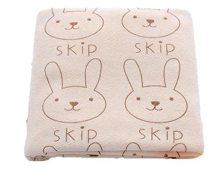 Toalla de secado absorbente de microfibra con estampado de conejo para niños, toalla de baño
