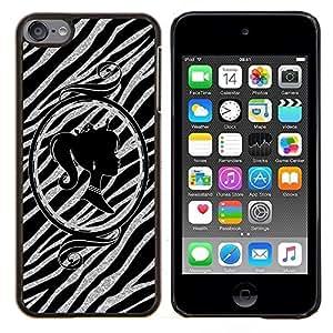 EJOOY---Cubierta de la caja de protección para la piel dura ** Apple iPod Touch 6 6th Touch6 ** --Silueta Espejo de Plata