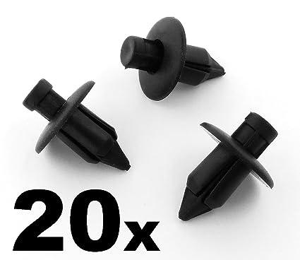 10 x Remaches Pl/ásticos 8mm Clip Retenedor Cierre Pl/ástico Negro Remache Carrocer/ía Panel