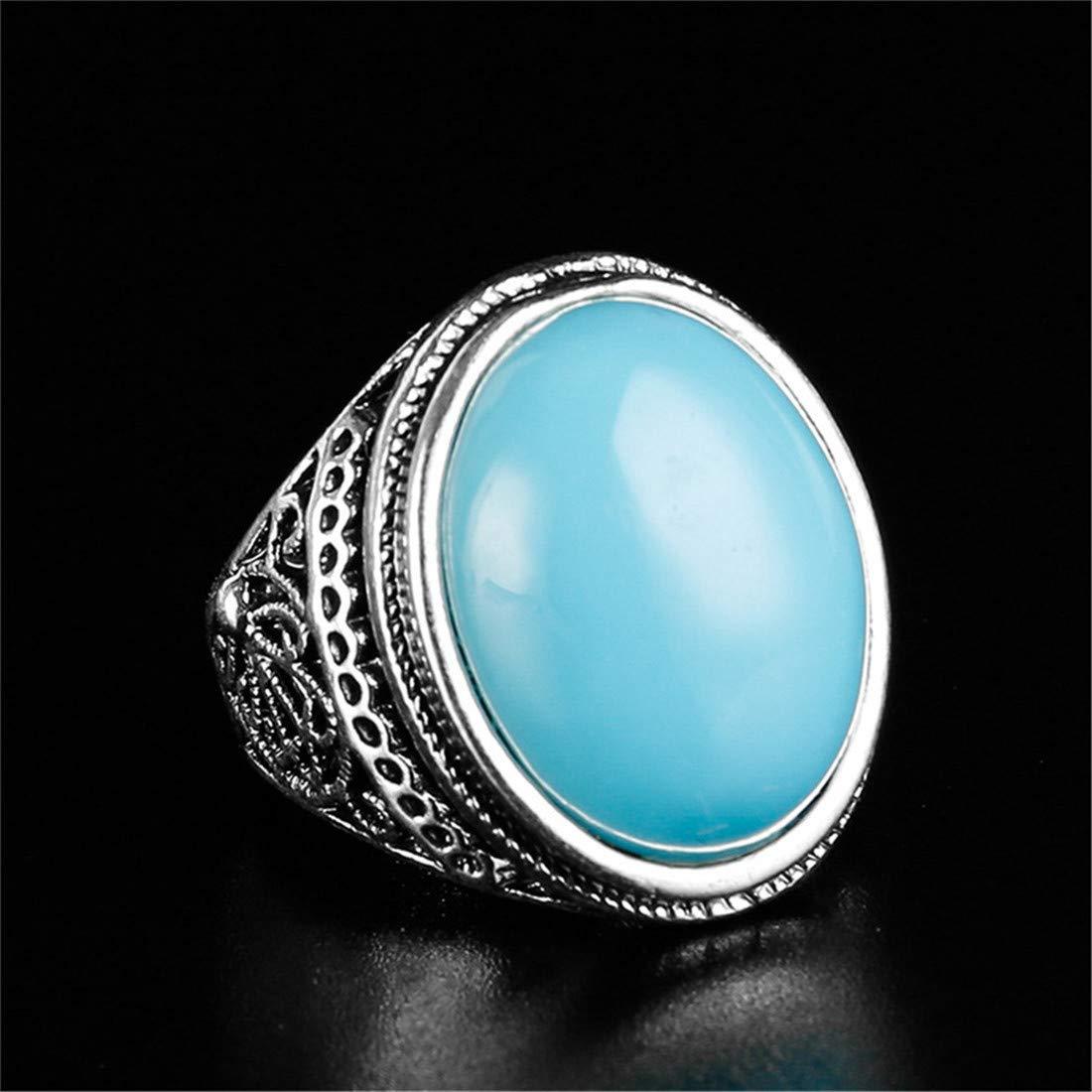rouge 9 Sperrins Vintage anneaux de bande de pierre naturelle pour femmes hommes mariage d/éclaration d/éclaration de bijoux de fian/çailles cadeau
