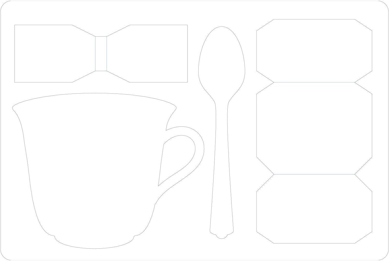 Sizzix ScoreBoards 664797-Tazzina da t/è 3-D con Cucchiaio di Eileen Hull Fustelle per Scrapbooking Cartone Multicolor Taglia unica