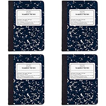 Mead Square Deal Memo Book, Narrow Ruled, 80 Sheets, Assorted Colors (45417), 4 Packs