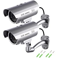 Cámara Falsa, Dummy Cámara de Seguridad Vigilancia Falsa Inalámbrico Impermeable Sistema de Vigilancia IR LED…