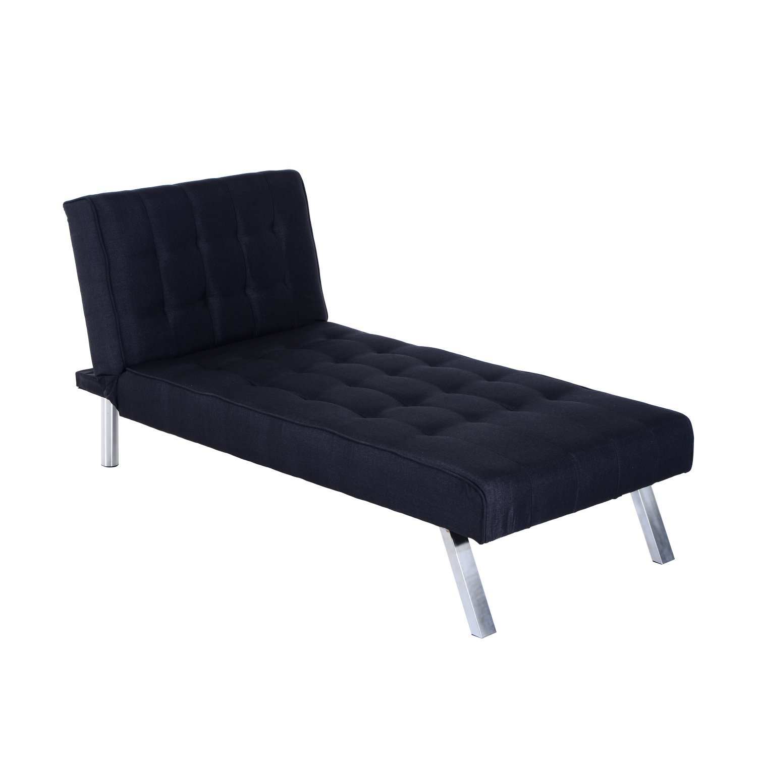 "Amazon Hom 70"" Modern Reclining Chaise Lounge Sleeper Sofa"