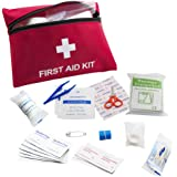 64 Pieces First Aid Kit Medical Survival Bag-Portable Emergency Bag- Exceeds OSHA ANSI Standard - for Car, Home,Emergency, Survival, Indoor and Outdoor Used