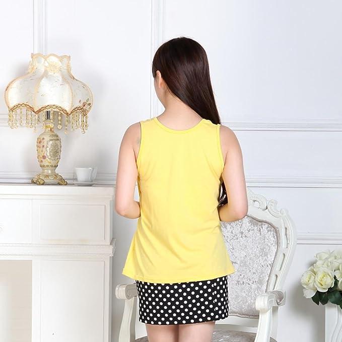 be4c529f844d2 Amazon.com: AIMTOPPY Pregnant Maternity Clothes Nursing Tops Breastfeeding  Vest T-Shirt (Yellow): Home & Kitchen
