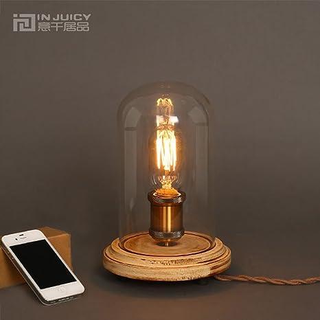 Injuicy Iluminación E27 Edison Retro Industrial Vidrio Cobre ...