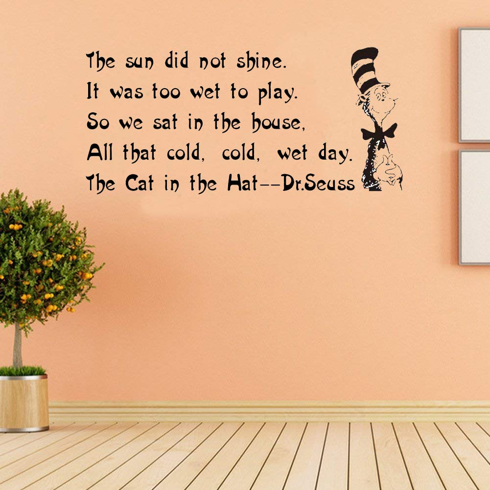 Amazon.com : Removable Wall Decals, Saying Dr. Seuss Classroom ...