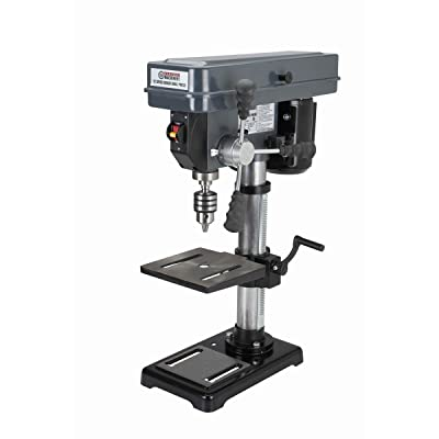 5.Central Machinery 10 in. Bench Mount Drill Press, 12 Speed