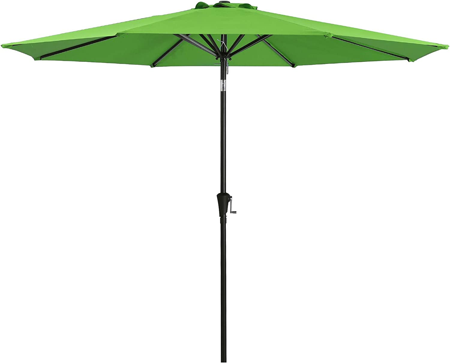 JIESSIWONG Patio Umbrella - Outdoor Table Market Umbrellas with Push Button Tilt and Crank for Garden,Backyard & Pool,8 Sturdy Square Ribs (11ft,Apple Green)