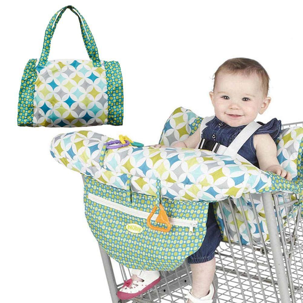 Shopping Cart Cover Multifunctional Printed Child Supermarket Trolley & High Chair Cover Cushion Fit for Toddler Boy and Girl Leiyini
