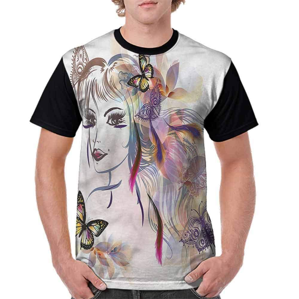 BlountDecor Trend t-Shirt,Triangles Spiritual Tattoo Fashion Personality Customization