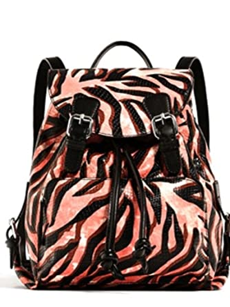 f18cfc8fae2 Amazon.com | Zara Printed Genuine Leather Backpack | Casual Daypacks