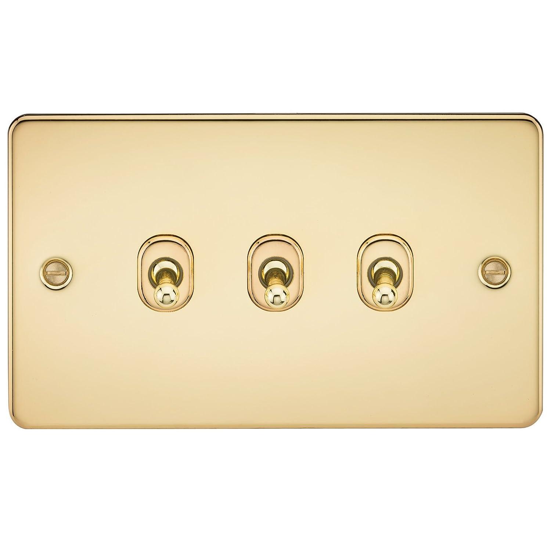 Knightsbridge FPAV8360PB Flat 2G Blanking Plate-Polished Brass ML Accessories