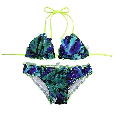 c52fabd063d Fuibo Women Bikini Summer Beach Bohemia Style < Women Wave Edge Bikini Set  Push-up