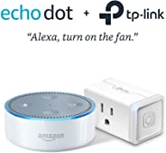 Echo Dot (2nd Generation) - White with TP-Link Smart Plug Mini