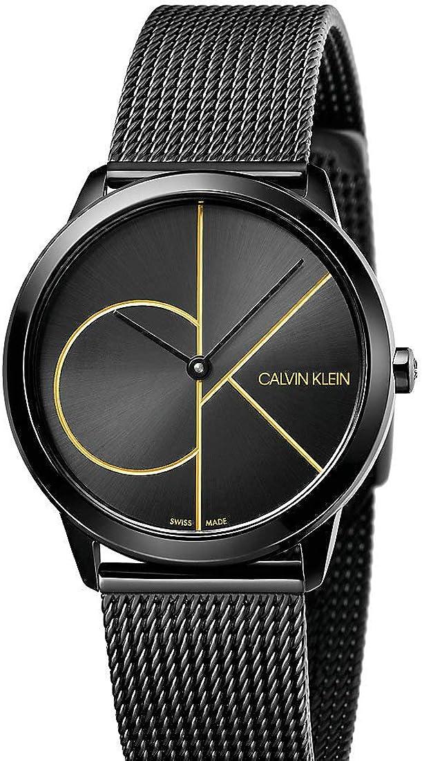 Calvin Klein Reloj Analogico para Mujer de Cuarzo con Correa en Acero Inoxidable K3M224X1