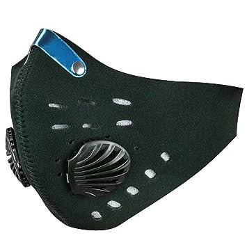 PrimeMatik - Máscara de Neopreno de Boca y Nariz para Bicicleta Motorista y Esquiador Negro