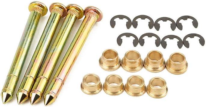 Door Hinge Pins /& Pin Bushing Kit For Ford F150 F250 F350 Series