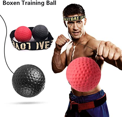 Boxing Reflex Ball MMA Training Improve Speed Reaction Punch Focus Speed Ball