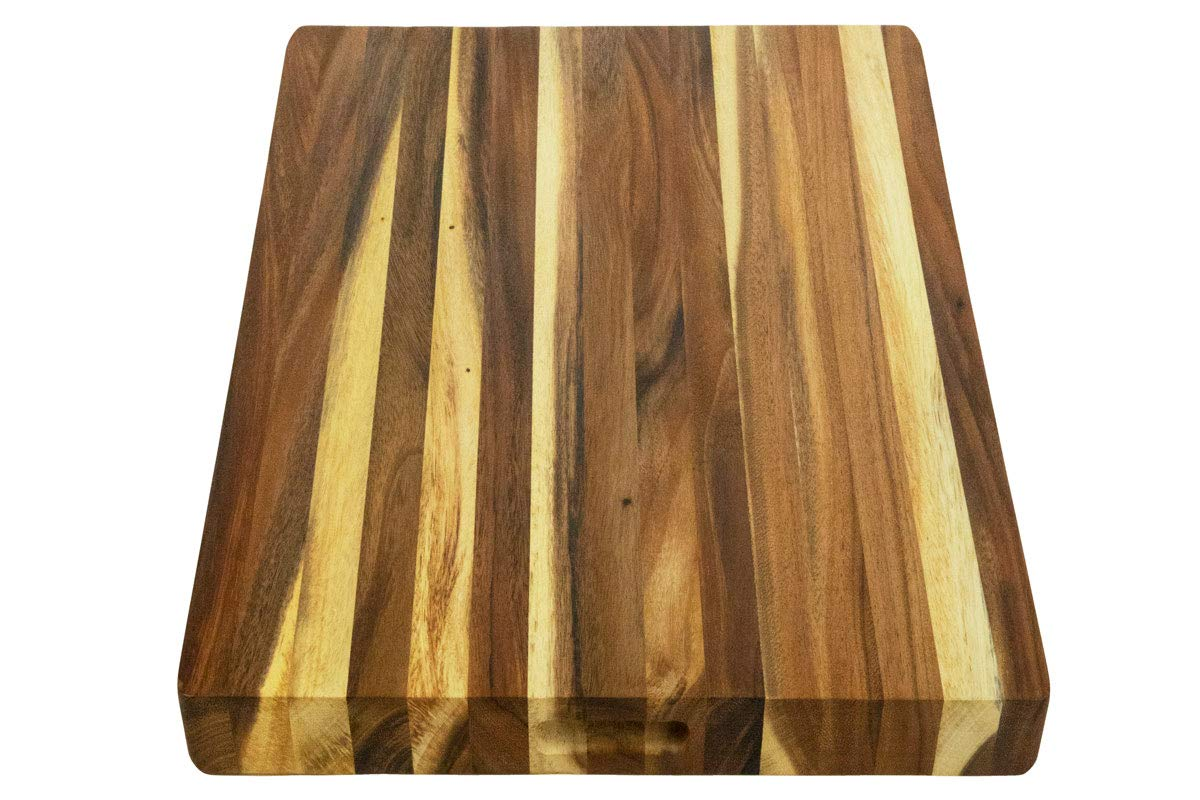 Villa Acacia Extra Large Wood Cutting Board 24 x 18 Inch, 1.5 Inches Thick, Reversible Wooden Kitchen Block by Thirteen Chefs (Image #3)
