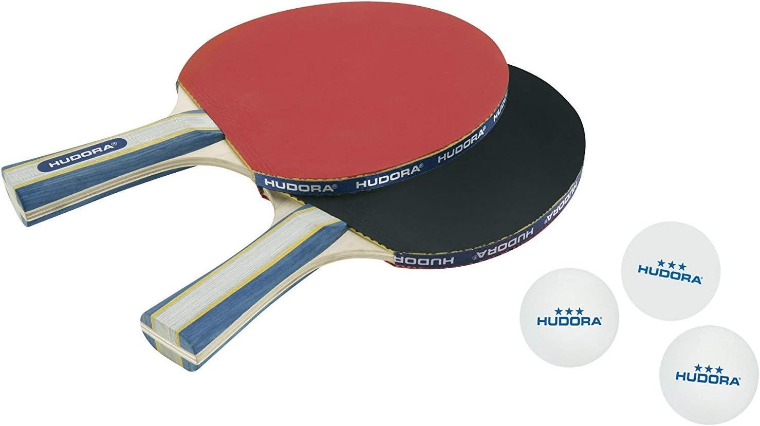 Hudora Juego de tenis de mesa new Contest 2.0, Blanco, 40mm, 76245