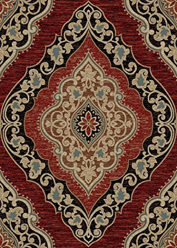 "Cheap Amelia Multi 8×10 Area Rug 7'10″x9'10"" Red 6663"